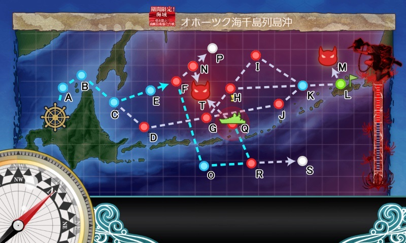 第一海域のマップ2段階目